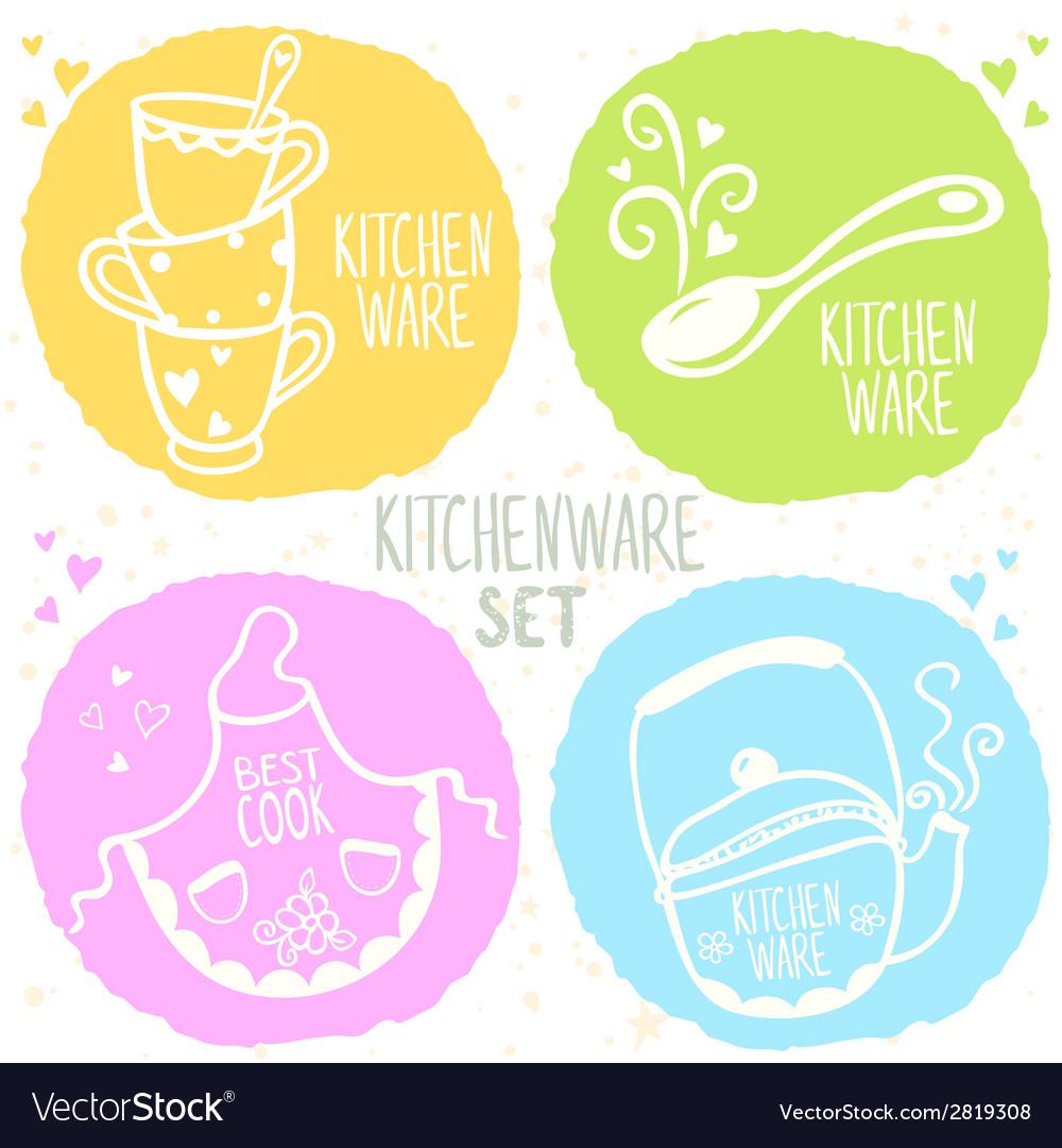 Kitchenware set vector | Price: 1 Credit (USD $1)