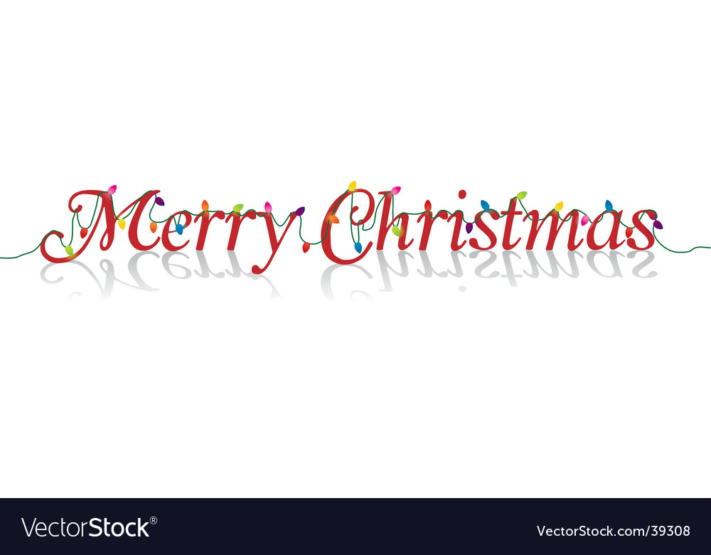 Merry christmas lights vector | Price: 1 Credit (USD $1)