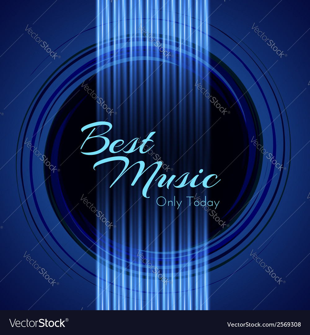 Music background with glowing strings of guitar vector | Price: 1 Credit (USD $1)