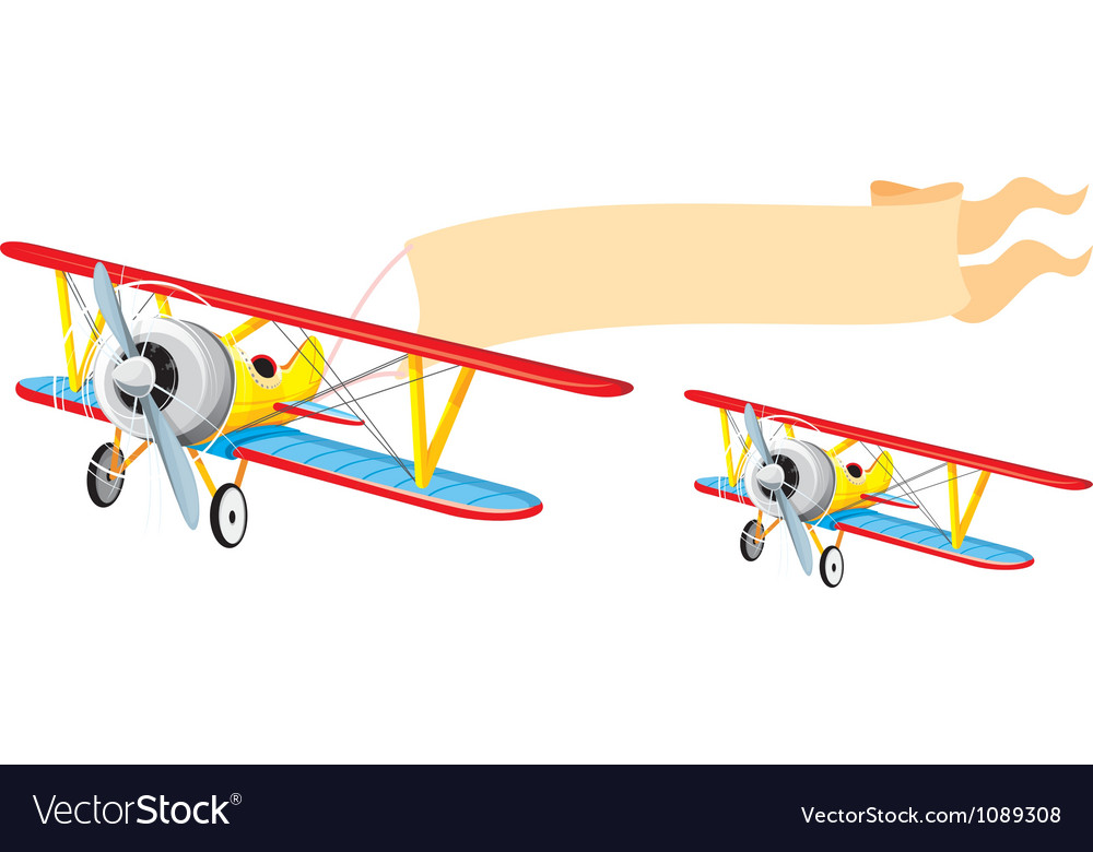 Plane with banner vector | Price: 3 Credit (USD $3)