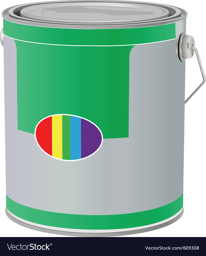 Realistic paint can on white background vector | Price: 1 Credit (USD $1)