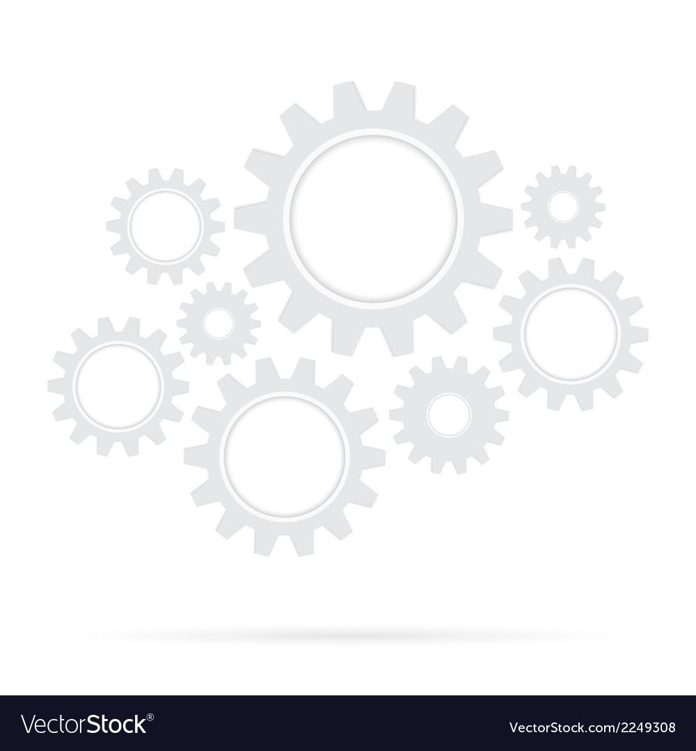 Retro gear bridge isolated background vector | Price: 1 Credit (USD $1)