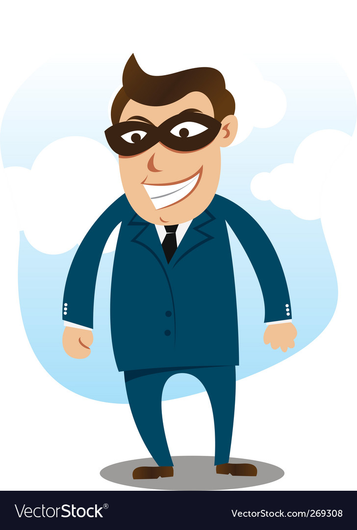Robber wearing suit vector | Price: 1 Credit (USD $1)