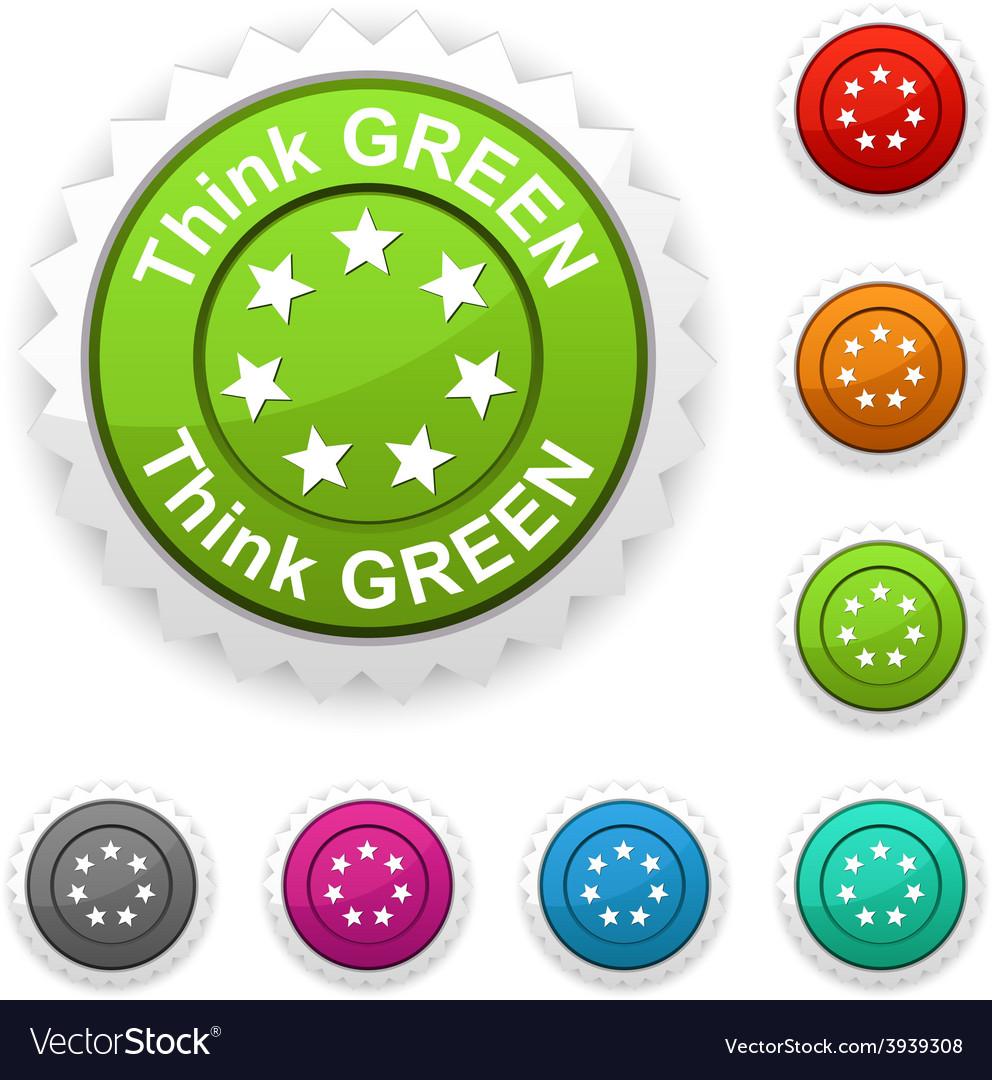 Think green award vector   Price: 1 Credit (USD $1)
