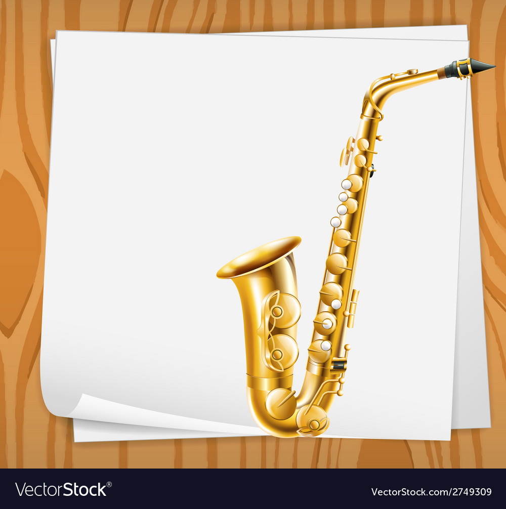 An empty paper with a trombone vector | Price: 1 Credit (USD $1)