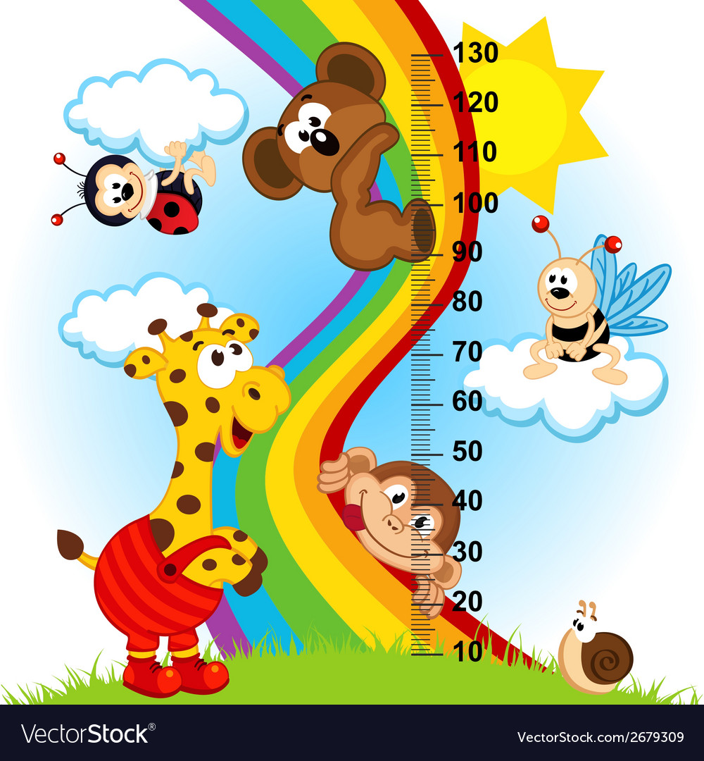 Baby height measure 1 to 4 vector | Price: 1 Credit (USD $1)