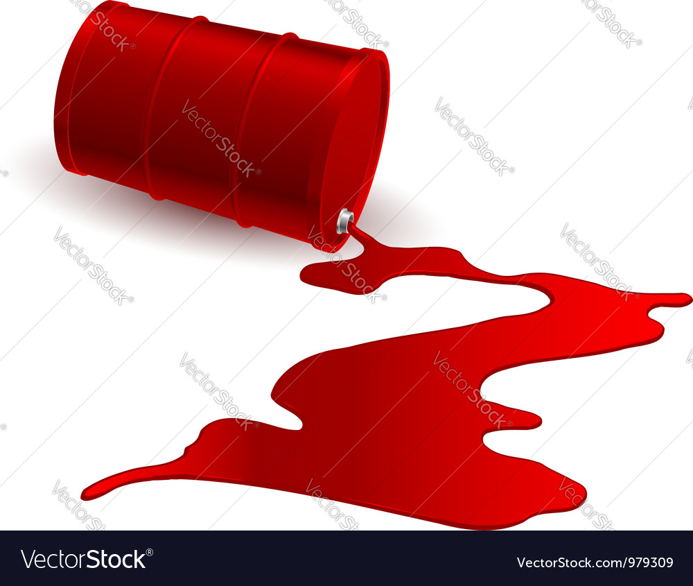 Barrel with red liquid vector | Price: 1 Credit (USD $1)