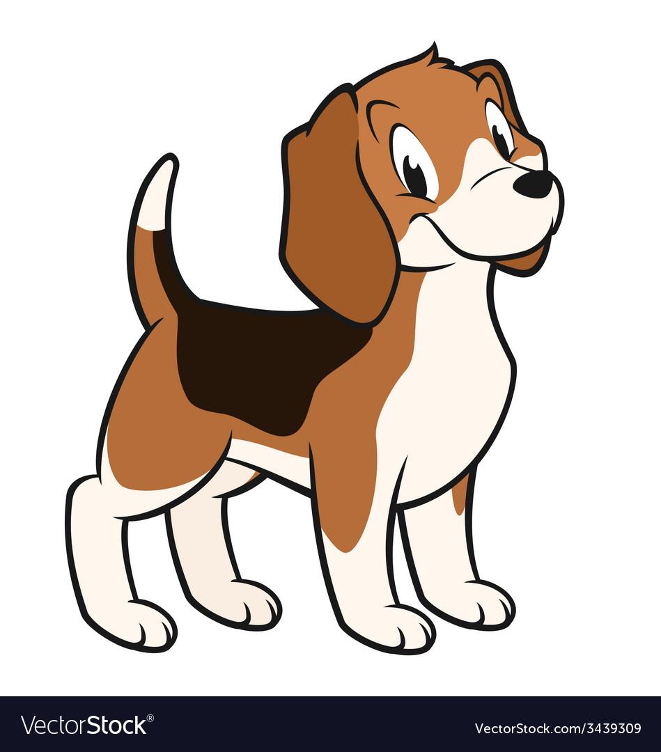 Cartoon beagle vector | Price: 1 Credit (USD $1)