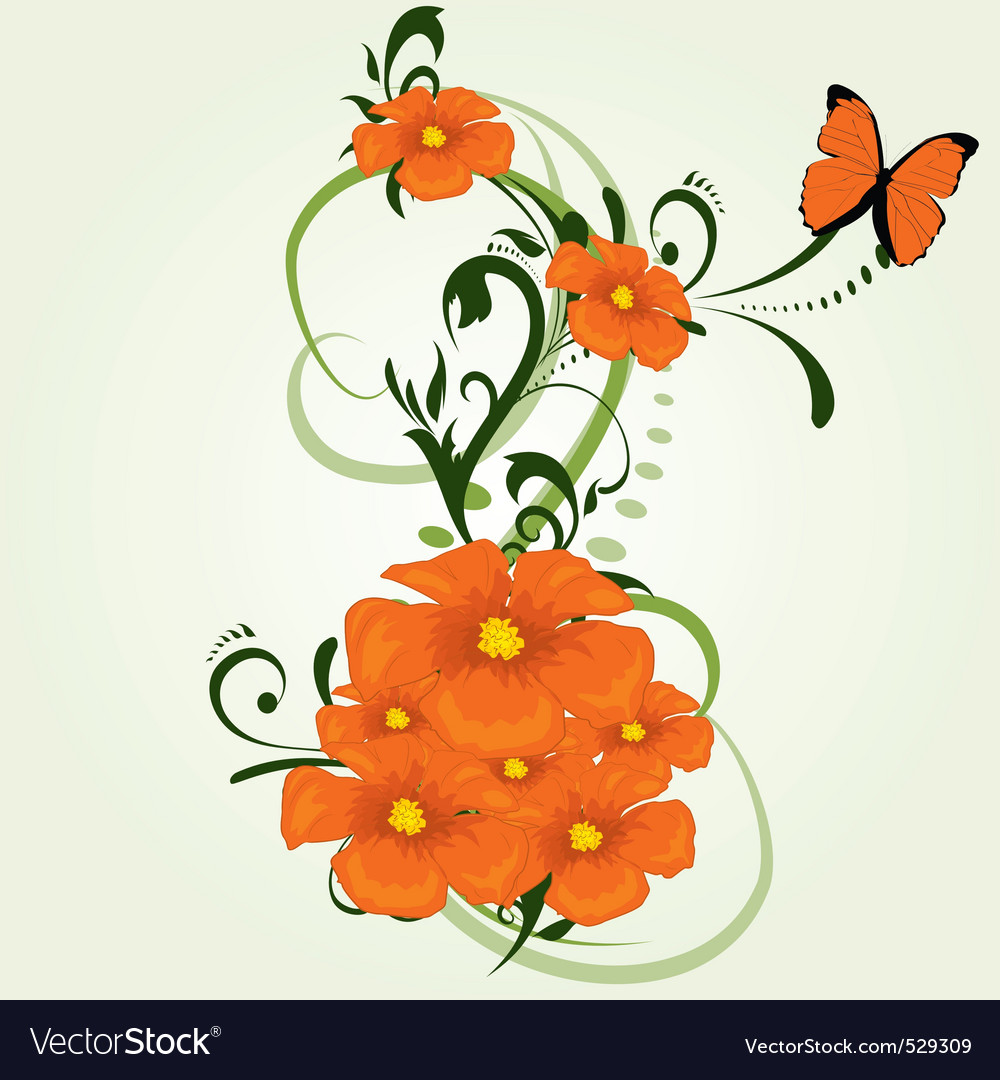 Floral graphic vector | Price: 1 Credit (USD $1)