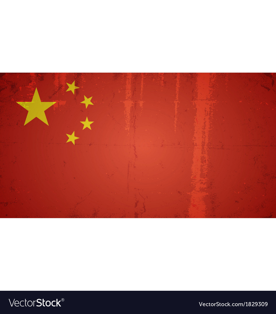 Grunge flags - china vector | Price: 1 Credit (USD $1)