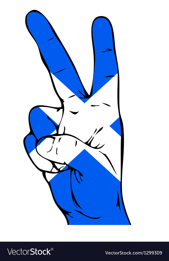 Peace sign of the scottish flag vector | Price: 1 Credit (USD $1)