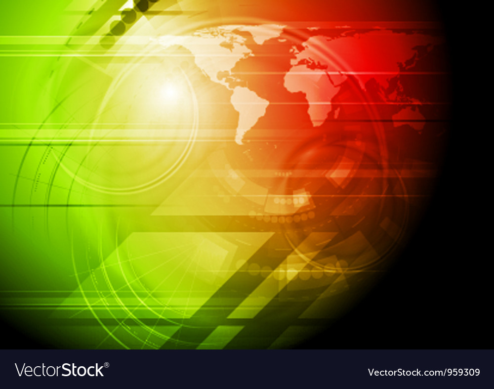 Red and green technology background vector | Price: 1 Credit (USD $1)