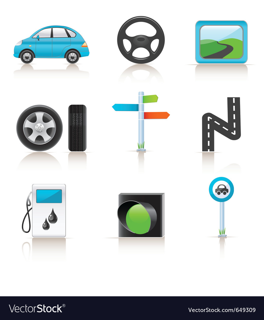 Road icon set vector | Price: 1 Credit (USD $1)