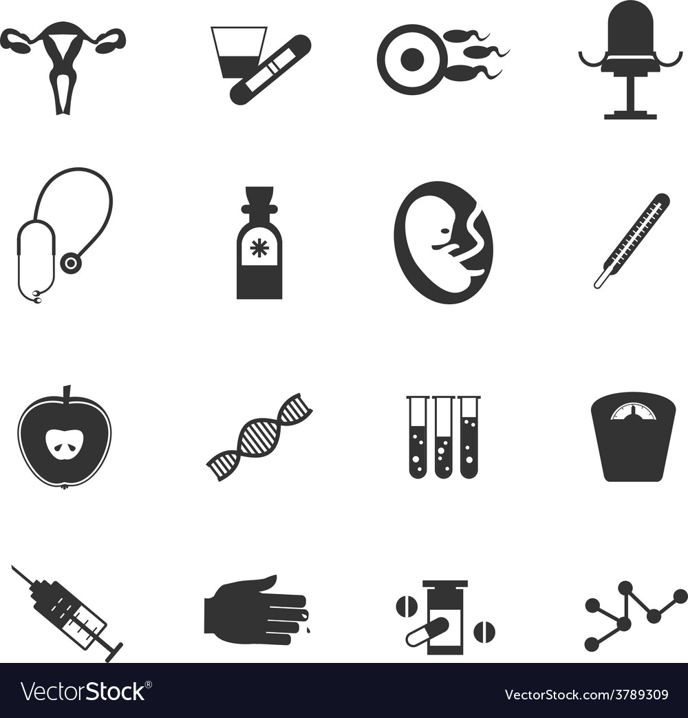 Set of icons gynecological vector | Price: 1 Credit (USD $1)