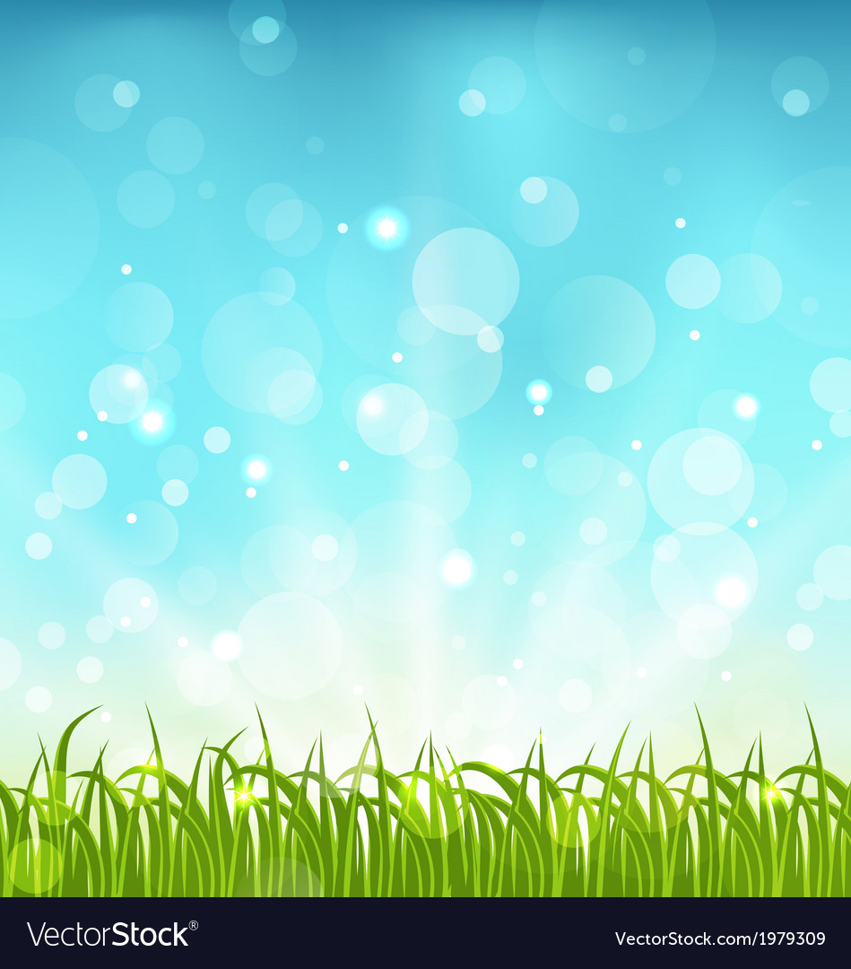 Summer nature background with grass vector | Price: 1 Credit (USD $1)