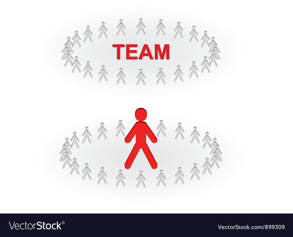 Team and leader vector | Price: 1 Credit (USD $1)