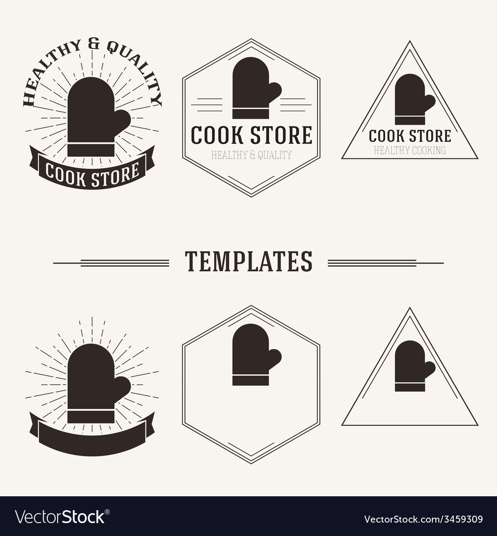 Vintage insignias and logotypes set vector   Price: 1 Credit (USD $1)