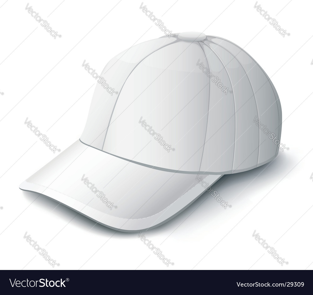White cap isolated illustration vector | Price: 1 Credit (USD $1)
