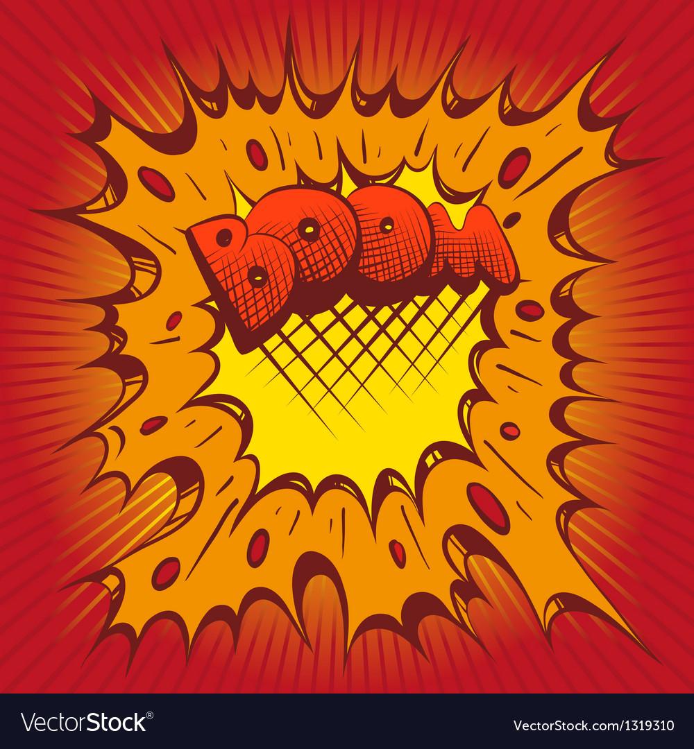 Boom comic book explosion vector | Price: 1 Credit (USD $1)