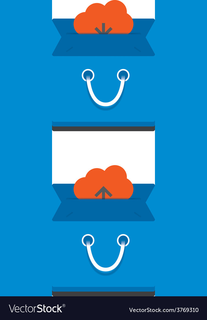 Cloud download and upload icon 31 vector | Price: 1 Credit (USD $1)