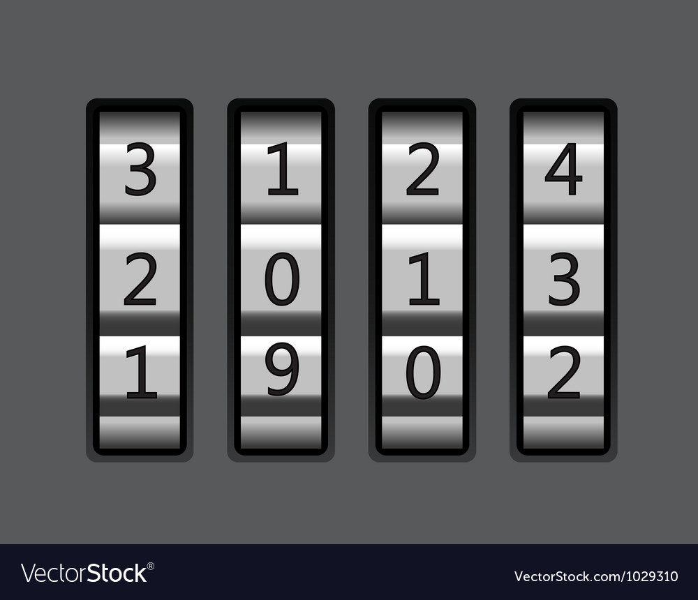 Code lock with number 2013 vector | Price: 1 Credit (USD $1)