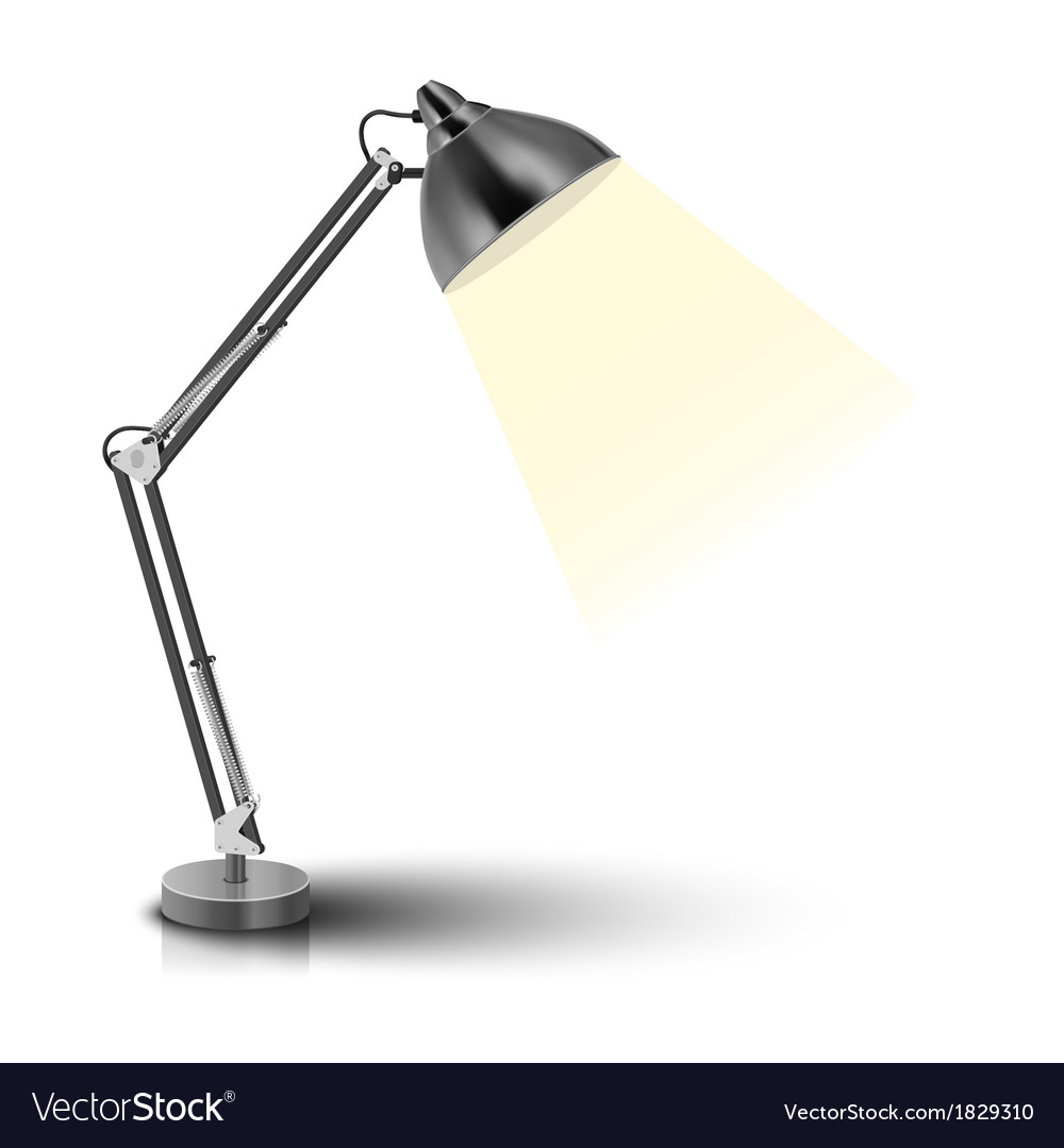 Desk lamp vector | Price: 1 Credit (USD $1)