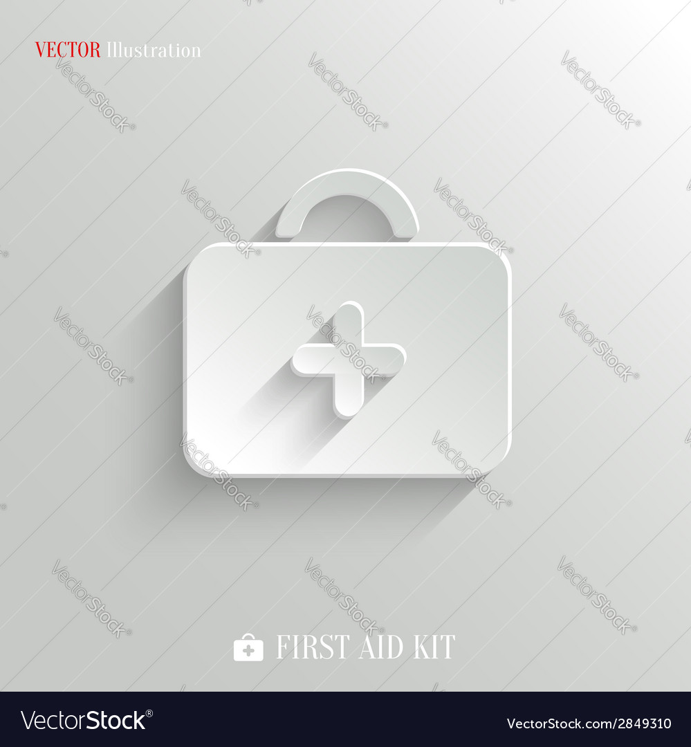 First aid medical kit icon vector | Price: 1 Credit (USD $1)