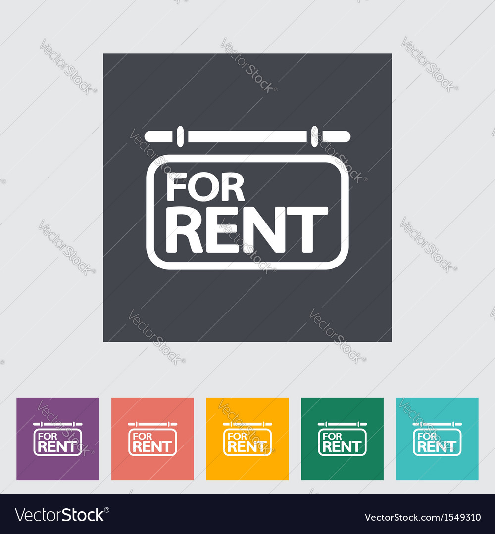 For rent vector | Price: 1 Credit (USD $1)