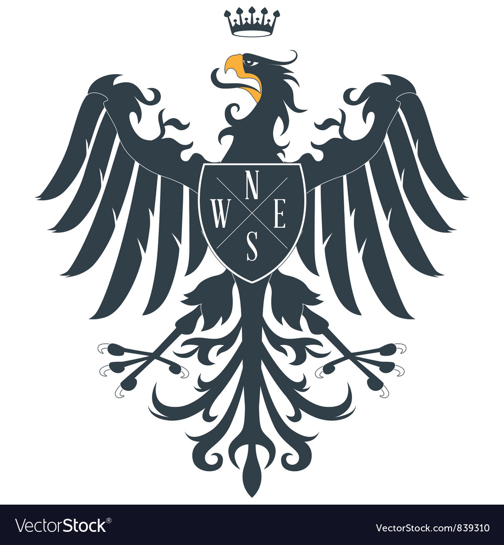 Heraldic eagle12 vector | Price: 1 Credit (USD $1)