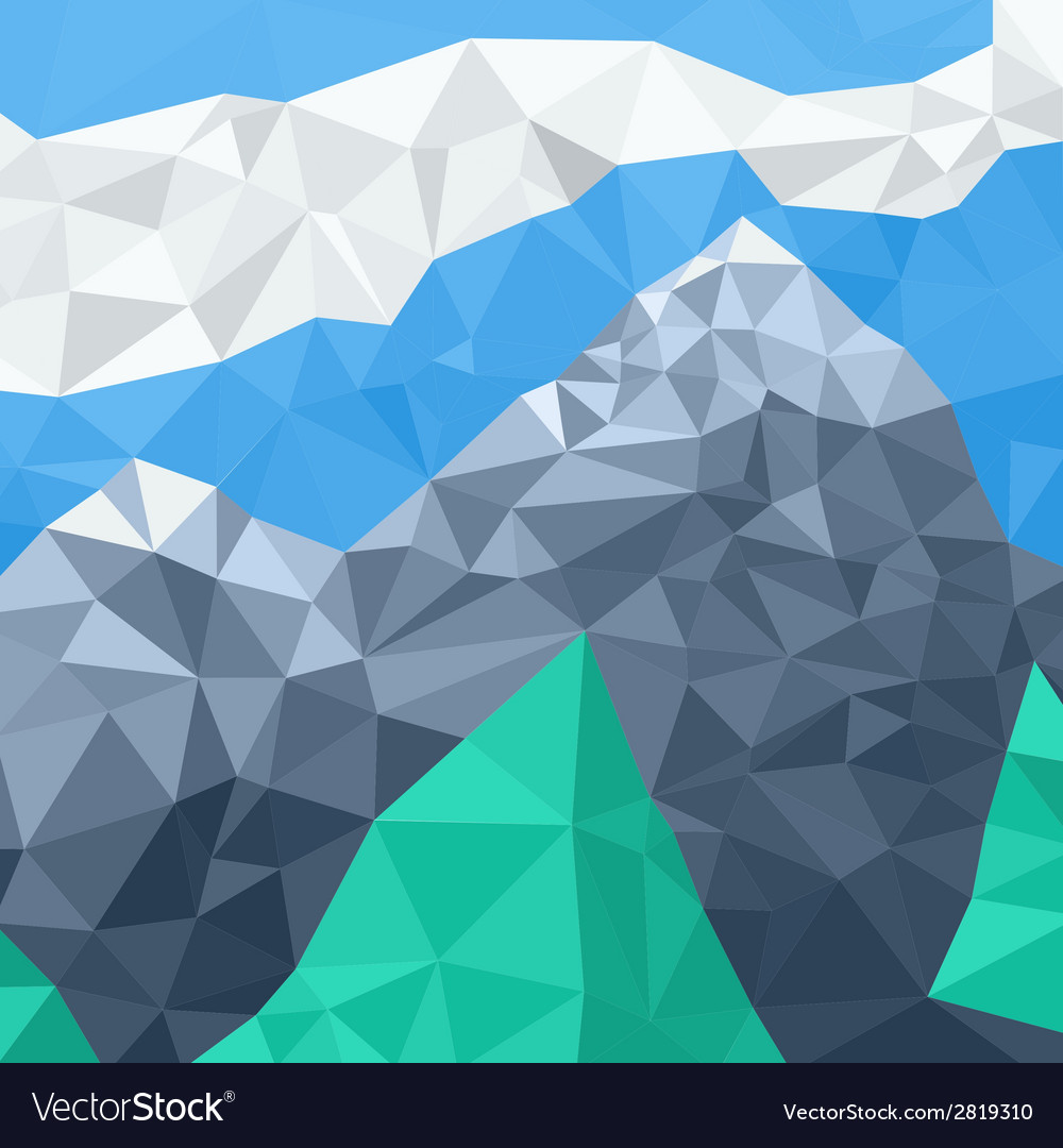 Mountain landscape mosaic in the summer vector | Price: 1 Credit (USD $1)