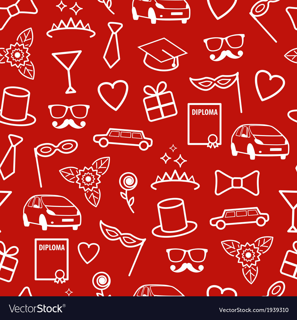 Prom seamless pattern vector | Price: 1 Credit (USD $1)