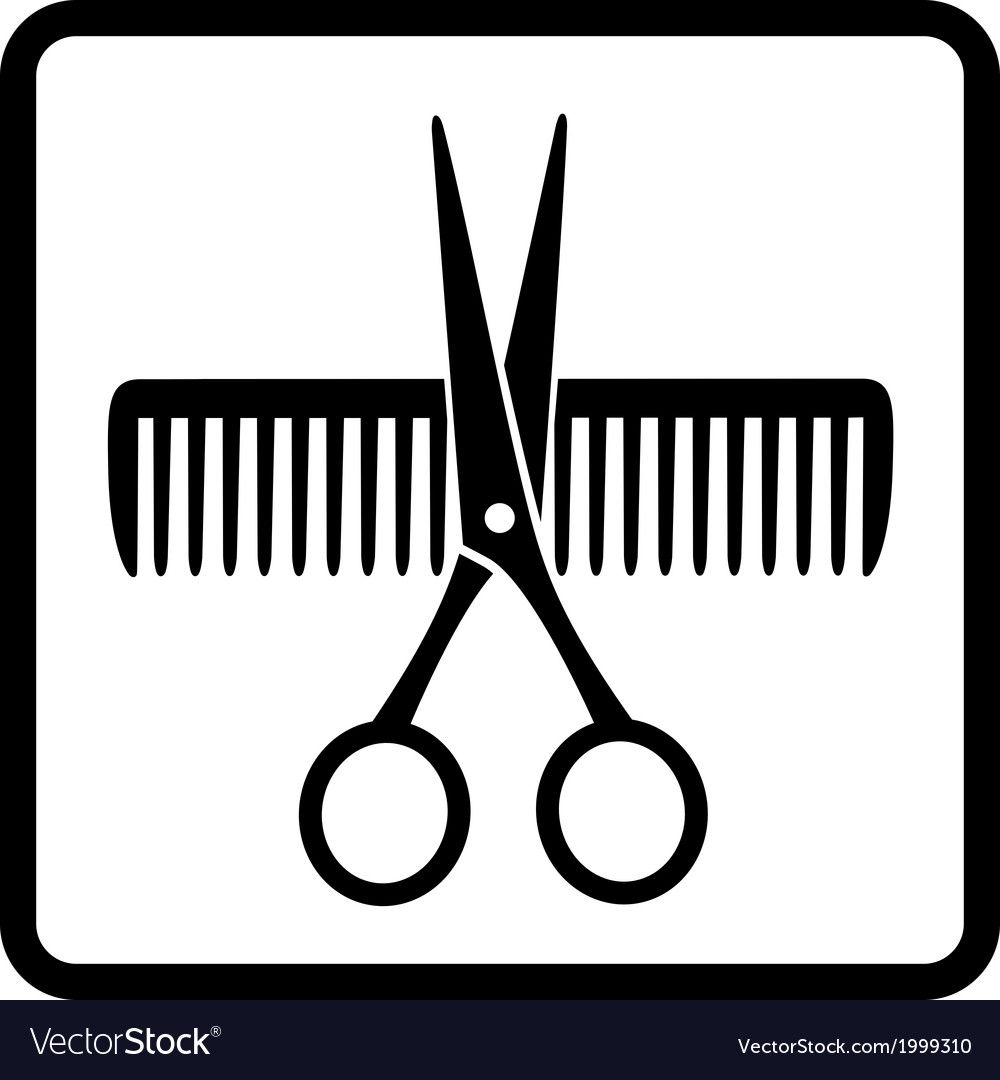 Scissors and comb vector | Price: 1 Credit (USD $1)