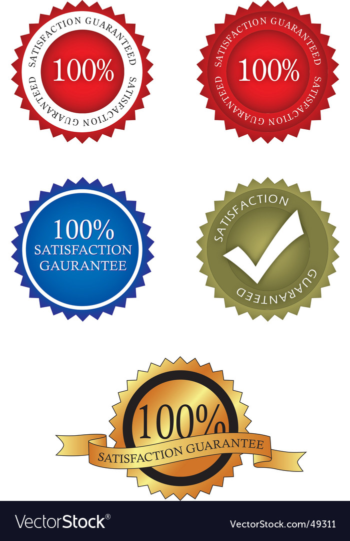 100 percent satisfaction gaurantee vector | Price: 1 Credit (USD $1)
