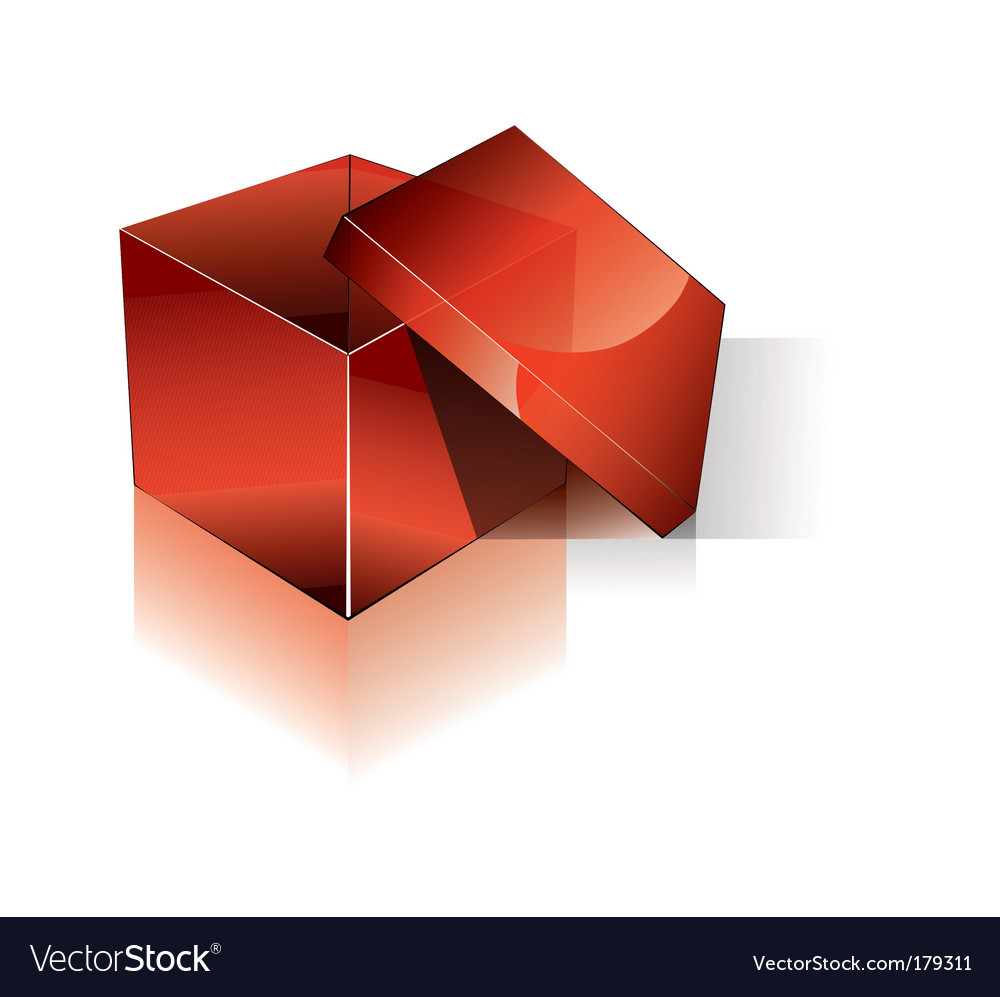 3d open red shipping box vector | Price: 3 Credit (USD $3)