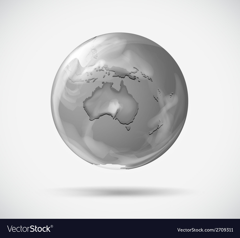 A round representation of the earth vector | Price: 1 Credit (USD $1)
