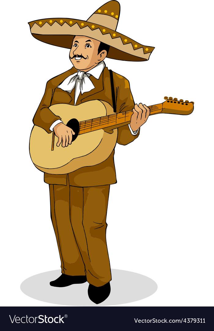 Mexican musician vector | Price: 1 Credit (USD $1)