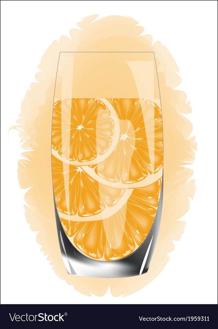 Orange juice on a white background vector   Price: 1 Credit (USD $1)