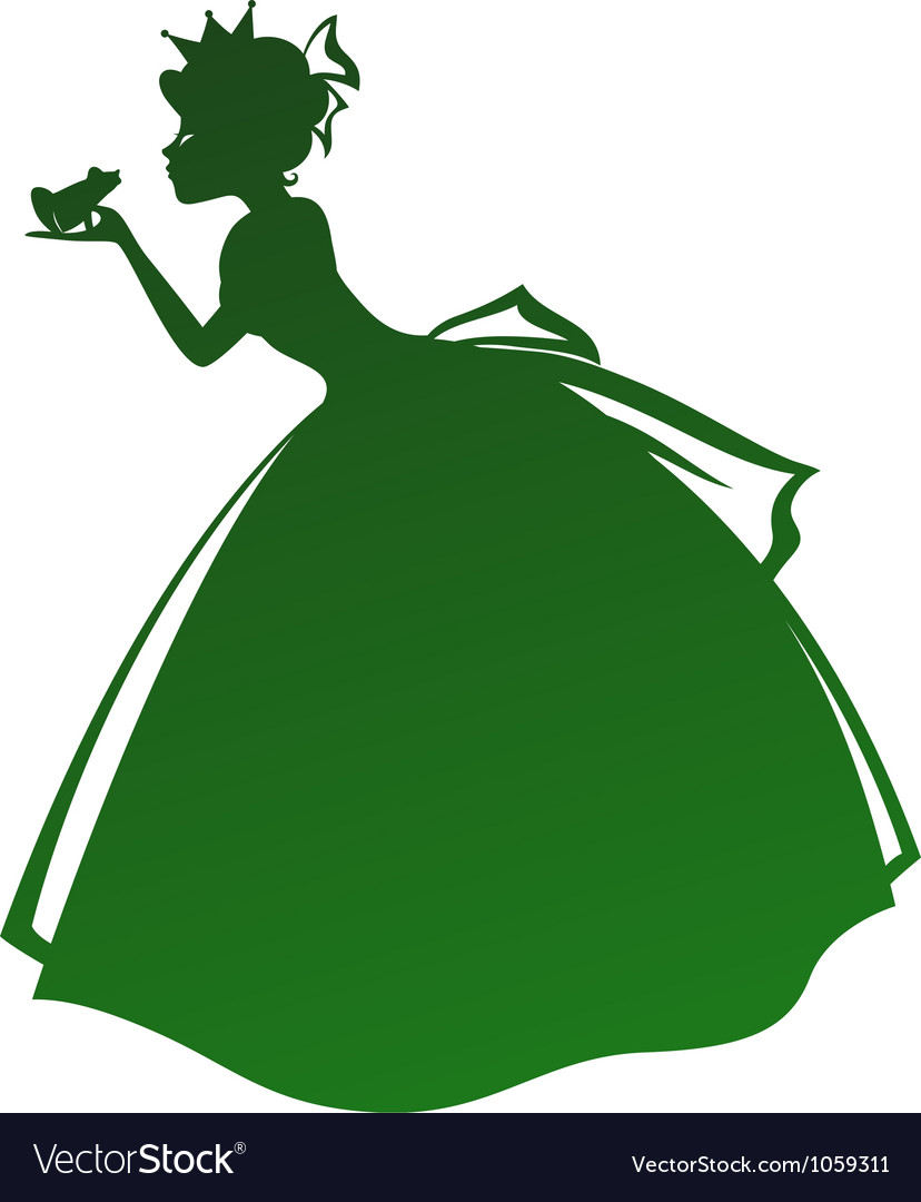 Princess and the frog vector