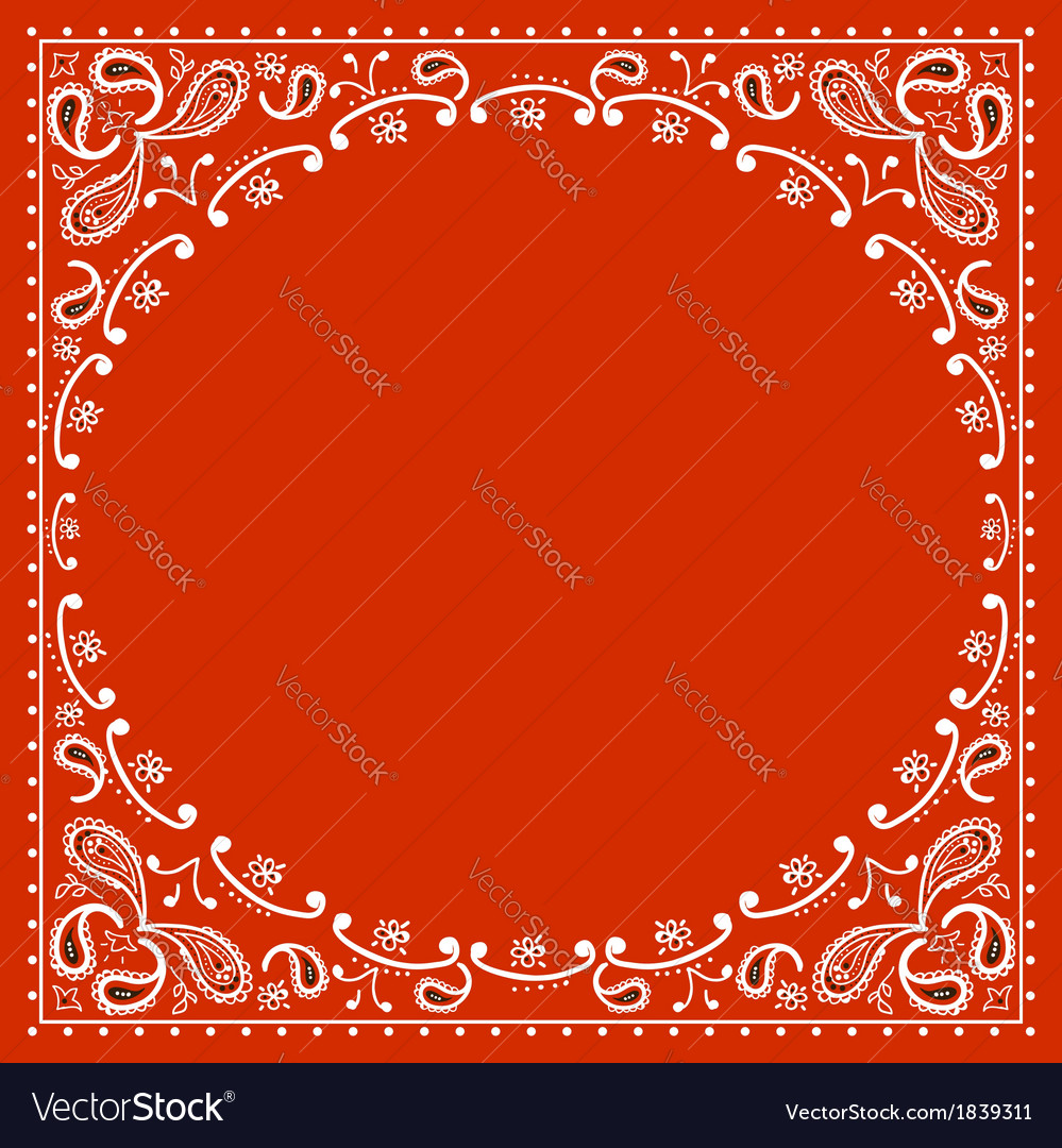 Red cowboy bandanna vector | Price: 1 Credit (USD $1)