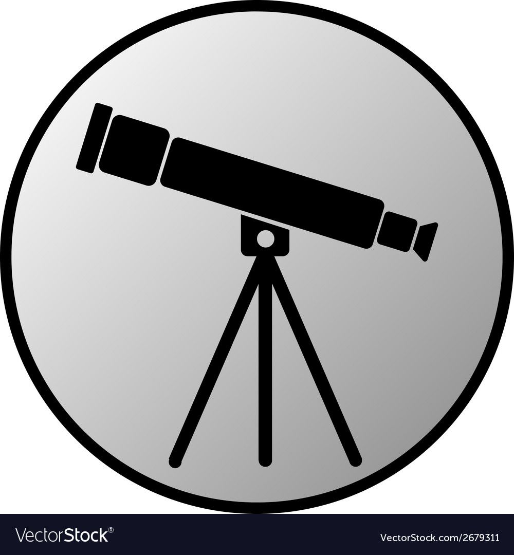 Telescope button vector | Price: 1 Credit (USD $1)