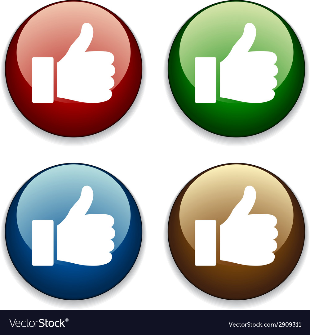 Thumbs up buttons vector | Price: 1 Credit (USD $1)