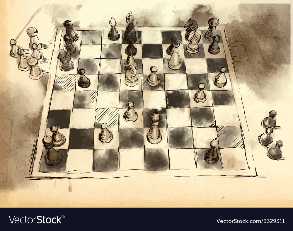 The worlds great chess games anderssen - vector | Price: 3 Credit (USD $3)