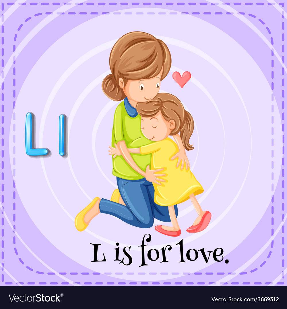 A letter l for love vector | Price: 1 Credit (USD $1)