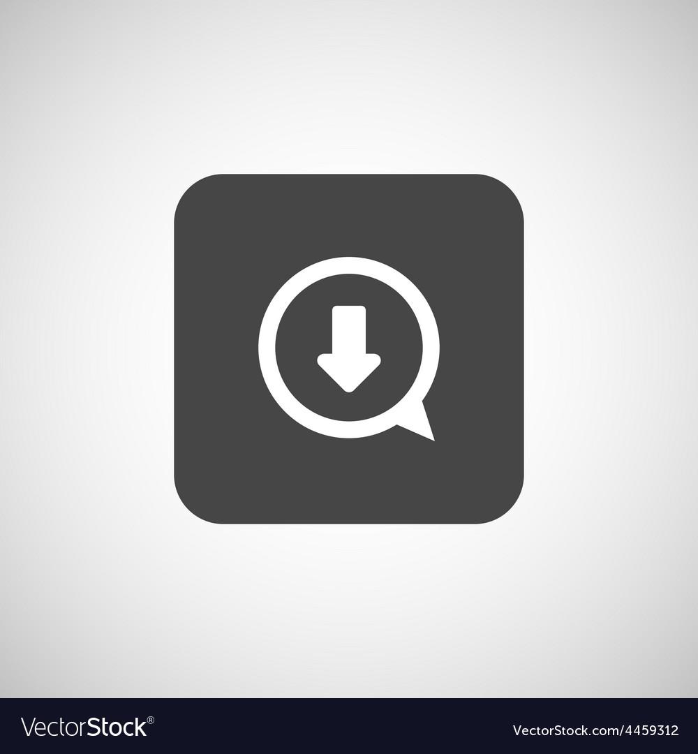 Arrow down bottom sign pictogram symbol icon vector | Price: 1 Credit (USD $1)