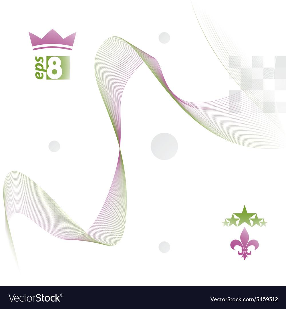 Dimensional motif elegant flowing curves light vector | Price: 1 Credit (USD $1)