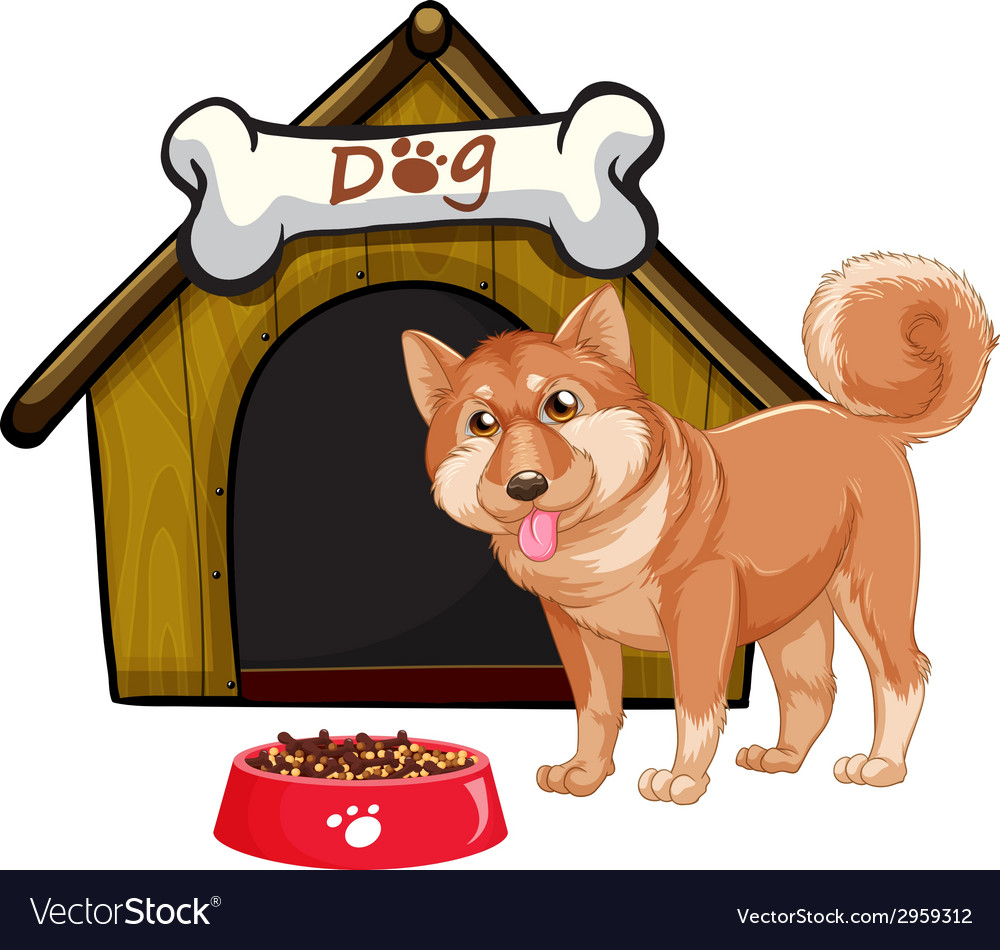 Dog and house vector | Price: 1 Credit (USD $1)