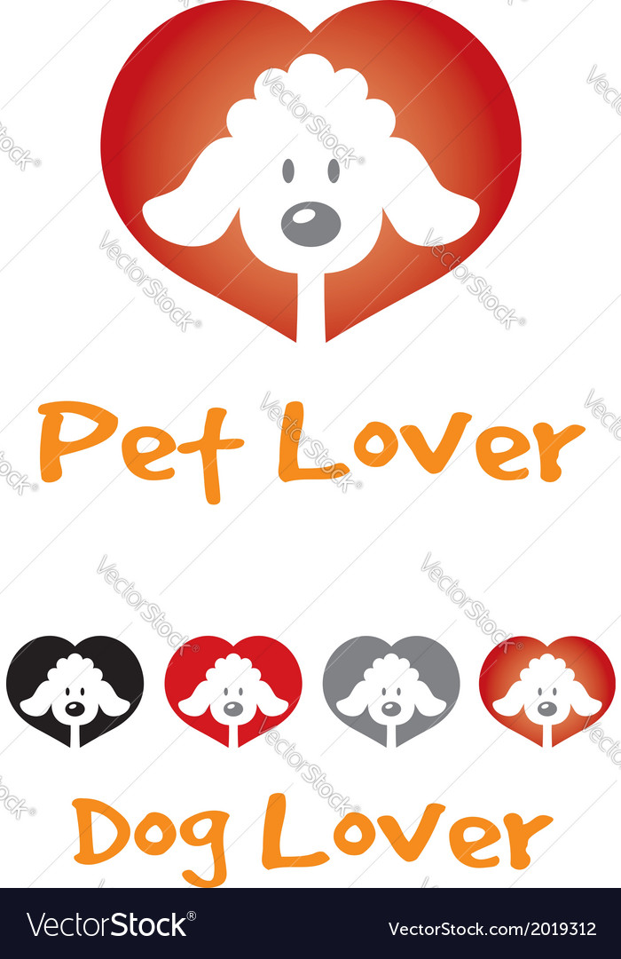 Dog lover symbol vector | Price: 1 Credit (USD $1)
