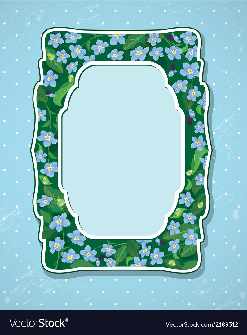 Forget me not frame 2 380 vector | Price: 1 Credit (USD $1)