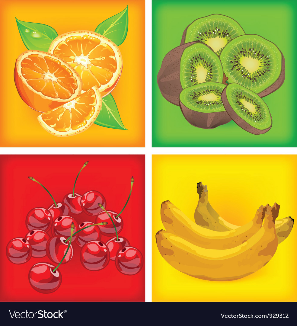 Fruit color background vector | Price: 3 Credit (USD $3)