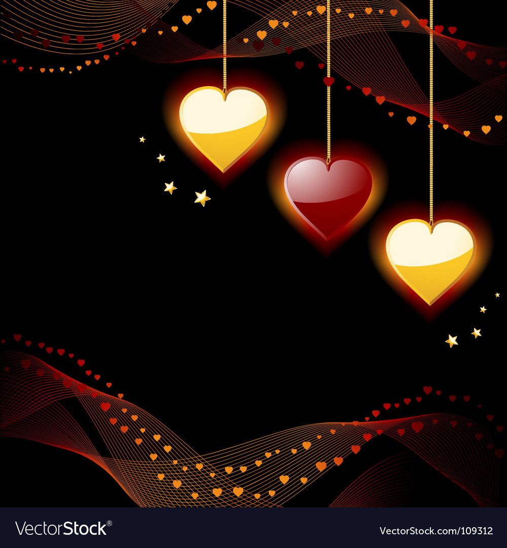 Glowing hearts vector | Price: 1 Credit (USD $1)